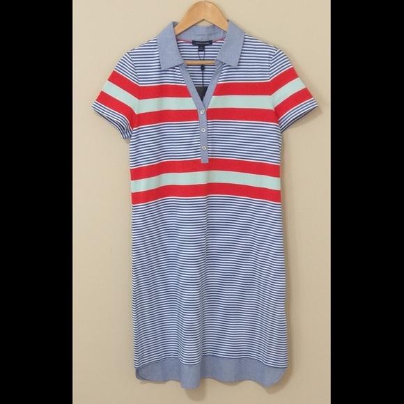 76430fa68f Tommy Hilfiger Dresses | Striped Vneck Polo Nwt | Poshmark